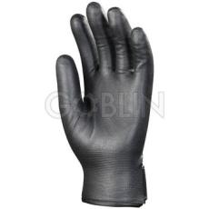Euro Protection Bélelt fekete poliamidra mártott nitril védõkesztyû, tépõzáras csuklóval