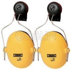 Earline® Earline sisakra szerelhetõ fültok állítható fémpánttal sárga színben (SNR 23dB)