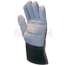 Euro Protection Rezgéscsillapító kombinált kesztyû, marhahasíték tenyéren és ujjakon szivacsbéléssel