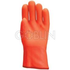 Euro Protection Bélelt PVC fluo kesztyû, 30 cm, vegyszerálló, antibakteriális Actifresh® kiképzéssel