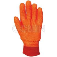 Euro Protection PVC fluo kesztyû, bélelt, gumírozott mandzsetta, antibakteriális Actifresh® kiképzéssel