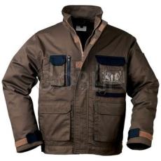 Coverguard GARDENER khaki munkaruházat sötétkék díszítéssel, kabát, dzsekifazonú, rejtett...