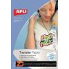 Fólia, vasalható, A4, tintasugaras nyomtatóba, fehér pólóhoz, APLI (FOTA4128)