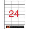 Etikett, lézernyomtatókhoz, 70x35 mm, APLI, 6000 etikett/csomag (LCA2519)