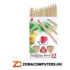 ICO Színes ceruza készlet, háromszögletű, vastag, natúr, ICO