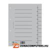 Regiszter, karton, A4, DONAU, szürke (D8610SZ)