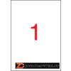 Etikett, 210x297 mm, poliészter, időjárásálló, matt, APLI, áttetsző, 100 etikett/csomag (LCA11919)