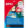 Etikett, 210x297 mm, színes, APLI, krémszínű, 20 etikett/csomag (LCA11802)