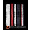 Spirál, műanyag, 16 mm, 101-120 lap, FELLOWES, fehér (IFW53320)