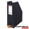 Iratpapucs, PP/karton, 100 mm, összehajtható, ESSELTE, Vivida fekete (E56077)