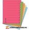 Regiszter, karton, A4, mikroperforált, DONAU, vegyes színek (D8611V)