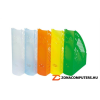 Iratpapucs, műanyag, 70 mm, DONAU, áttetsző narancs (D74621N)