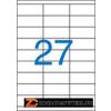 Etikett, univerzális, 70x30 mm, VICTORIA, 2700 etikett/csomag (LCV11387)