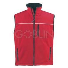 Coverguard YANG piros mellény, háromrétegû, lélegzõ és vízhatlan softshell anyagból