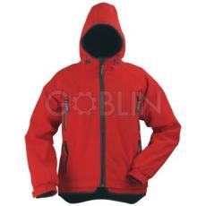 Coverguard YIN piros, cipzáros, kapucnis kabát, három rétegû, lélegzõ és vízhatlan softshell, 310 g/m2