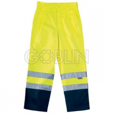 Coverguard Patrol deréknadrág sárga/kék, egyenes fazon, bõséghajtással, kék lábszár