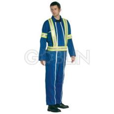 Coverguard Fényvisszaverõ jelzõkantár ruhára, fluo sárga, fényvisszaverõ csíkkal