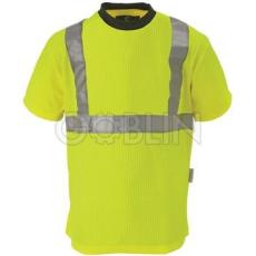 Coverguard Sárga fluo póló, 235 g/m2 bordázott, környakas, szellõzõ poliészter/pamut