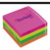 Öntapadó jegyzettömb, 76x76 mm, 400 lap, TARTAN, vegyes neon színek (LPT7676CN)