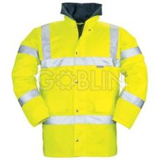 Coverguard FLUO télikabát, sárga szín, melegbélés, taft belsõ, vízhatlan, fényvisszaverõ csíkok