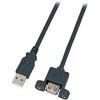 USB kábel rögzítési lehetőséggel, A dugóról A aljra, 0,5 m