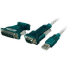 LogiLink USB kábel, 1 x USB 2.0 dugó A – 1 x D-SUB dugó 9 pól., D-Sub dugó 25 pól., 1,2 m, fekete LogiLink UA0042A