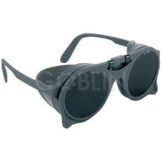 Lux Optical® Eurolux hegesztõszemüveg, száras szemüveg felhajtható sötét üveggel, oldalvédõvel