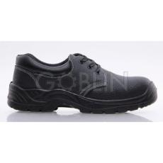 Coverguard MIXITE (S1) fekete bõr cipõ, acél lábujjvédõvel
