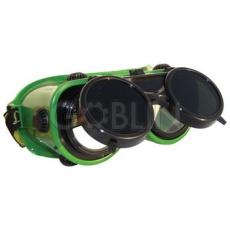 Lux Optical® Revlux hegesztõszemüveg, felhajtható kerek lencse, hõálló mûanyag keret, pormentes...