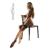 Testszínű Cotelli combfix, széles erotikus fekete csipkével