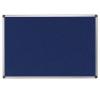 . Textiltábla, 200x120 cm, alumínium keret, kék felírótábla