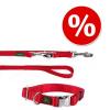 Hunter szett: Vario Basic piros nyakörv + póráz - Nyakörv M méret + póráz 200 cm/20 mm