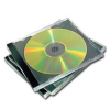 FELLOWES CD-tok, normál, 1 lemez, FELLOWES, fekete