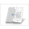 Samsung Samsung SM-G900 Galaxy S5 akkumulátoros flipes hátlap - 3200 mAh - fehér