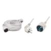 Hálózati hosszabbító, 10 m, fehér (NV 2-10/WH)