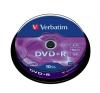 DVD+R lemez, AZO, 4,7GB, 16x, hengeren, VERBATIM (DVDV+16B10) írható és újraírható média