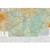 Falitérkép, 70x100 cm, fémléces,  Magyarország autótérképe,  STIEFEL (VTS860FL)