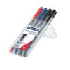 """Alkoholos marker készlet, OHP, 1 mm, STAEDTLER """"Lumocolor 317 M"""", 4 különböző szín (TS317WP4)"""