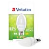 LED izzó, Classic B - gyertya, E14-es foglalat, 350lm, 4,5W, 2700K, meleg fény, bliszterben, VERBATIM (VLED602)