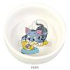 Trixie macska kerámia etetőtál fehér (TRX4009)
