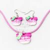 Gyerek ékszer szett figurás - pink jwr-1588