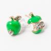 Beszúrós alma fülbevaló zöld jwr-1452