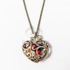 Gyöngyös szív medál nyakláncon - antikolt jwr-1110