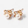 Arany bevonatos masni fülbevaló gyönggyel jwr-1064
