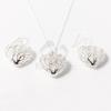 Ezüst bevonatos szív függős ékszer szett jwr-1483