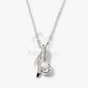 Ezüst bevonatos nyaklánc köves medállal fehér jwr-1306