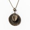 Antikolt nyaklánc kalap medállal jwr-1093
