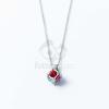Ezüst bevonatos kocka medálos nyaklánc multicolor jwr-1354