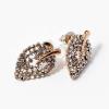 Arany bevonatos levél alakú fülbevaló kövekkel jwr-1068
