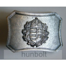 Ezüst színű fém címeres övcsat ( 8x5,5 cm)